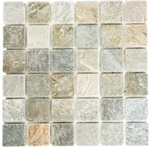 Natursteinmosaik XQM 001M 30,5x32,5 cm beige/grau