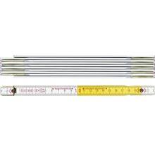 Meterstab BMI Holz 2 m beidseitig skaliert