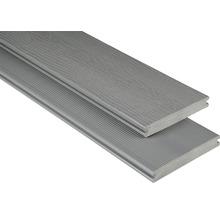 Konsta WPC Terrassendiele Vollprofil mit Struktur grau 20x145 mm (Meterware ab 1000 mm bis max. 6000 mm)