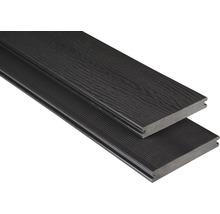 Konsta WPC Terrassendiele Vollprofil mit Struktur graubraun 20x145 mm (Meterware ab 1000 mm bis max. 6000 mm)