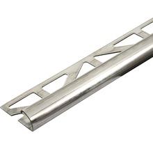 Viertelkreis-Abschlussprofil Dural Durondell DRE 110 Edelstahl Länge 250 cm