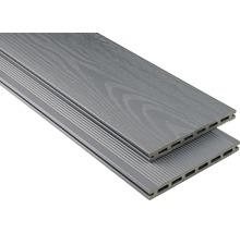 Konsta WPC Terrassendiele XL steingrau mattiert strukturiert 20x190 mm (Meterware ab 1000 mm bis max. 6000 mm)