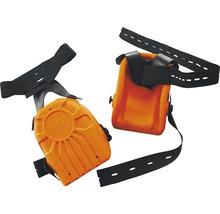Knieschoner orange mit Stichschutz DIN EN 14404, 2 Stück