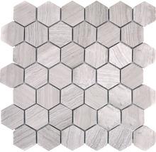 Natursteinmosaik MOS HXN 2012 29,8x30,5 cm grau