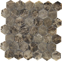 Natursteinmosaik MOS HXN 2909 29,8x30,5 cm braun