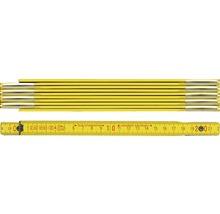 Meterstab BMI Holz 2 m gelb