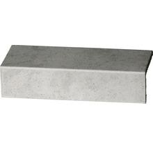 Steinzeug Längssschenkel Capra hellgrau 24,5 x 10,5 cm