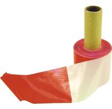 Absperrband Flatterband Warnband rot/weiß 100 m, 80 mm