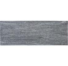Flairstone Poolumrandung Beckenrandstein Arctic Gneis Element gerade grau 1 Längsseite gerundet 115 x 35 cm