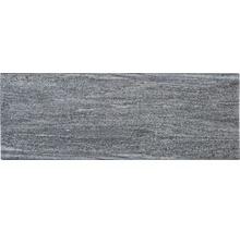 Flairstone Poolumrandung Beckenrandstein Arctic Gneis Element gerade grau 2 Längsseiten gerundet 115 x 35 cm