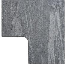Flairstone Poolumrandung Beckenrandstein Arctic Gneis Eckstück 90° grau innen gerundet 60 x 35 / 60 x 35 cm