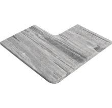 Flairstone Poolumrandung Beckenrandstein Arctic Gneis Eckstück 90° grau innen & aussen gerundet 60 x 35 / 60 x 35 cm
