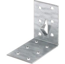 Lochplattenwinkel m. Fixierkralle 60 x 60 x 40 mm, sendzimirverzinkt, 1 Stück