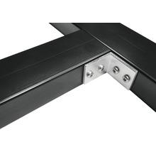 Winkel für Diagonalaussteifung für Unterkonstruktionen Aluminium Pack = 30 Stück inkl. 120 Schrauben Edelstahl A2 3,9x19 mm
