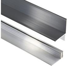 Wandabschluss Konsta Aluminium eloxiert Anthrazit 40x40x2500 mm