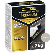 Fugenmörtel Murexin FM60 Premium Trendline hellbraun 2 kg