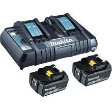 Starter Set Makita DC18RD Power Source Kit Li 18V, 2x 5,0 Ah Akkus + Ladegerät