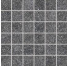 Feinsteinzeugmosaik Udine schwarz unglasiert 30x30 cm