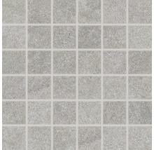 Feinsteinzeugmosaik Udine grau unglasiert 30x30 cm