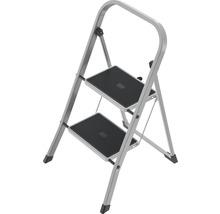 Klapptritt Leiter Stahl Hailo K41 2 Stufen silber bis 150 kg belastbar