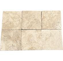 Flairstone Travertin Terrassenplatte Roma beige 20,3 x 20,3 x 3 cm