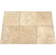 Flairstone Travertin Terrassenplatte Roma beige 40,6 x 40,6 x 3 cm
