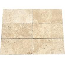 Flairstone Travertin Terrassenplatte Roma beige 40,6 x 20,3 x 3 cm