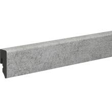 Sockelleiste Skandor PVC KU048L grau matt 15x38,5x2400 mm