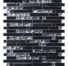 Glasmosaik mit Aluminium schwarz 30x34cm