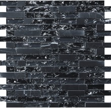 Glasmosaik mit Stein schwarz 29,8x30,5cm