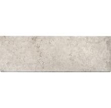 Flairstone Poolumrandung Beckenrandstein Roma Element gerade beige 1 Längsseite gerundet 115 x 37 x 3 cm
