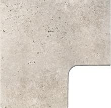 Flairstone Poolumrandung Beckenrandstein Roma Eckstück 90° beige innen gerundet 60x37 / 60x37 cm