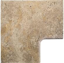 Flairstone Poolumrandung Beckenrandstein Livorno Eckstück 90° braun innen gerundet 60x37 / 60x37