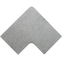 Flairstone Poolumrandung Beckenrandstein Phönix white Eckstück 90° grau innen & aussen gerundet 60x35 / 60x35 cm