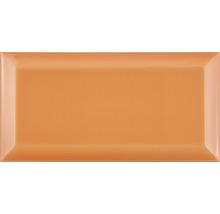 Metro-Fliese mit Facette Naranja glänzend 10 x 20 cm