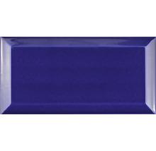 Metro-Fliese mit Facette Azul Cobalto glänzend 10 x 20 cm