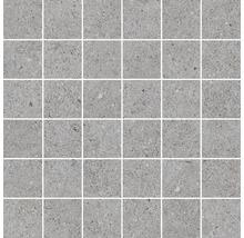 Feinsteinzeug Mosaik Sassi Gris 30X30cm