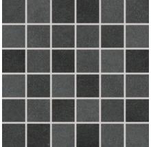 Feinsteinzeugmosaik Rako EXTRA schwarz 30x30cm, Steingröße 5x5cm