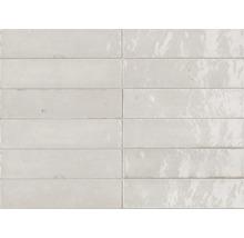 Bodenfliese Marazzi Lume White glänzend 6 x 24 cm
