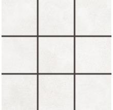 Feinsteinzeugmosaik Rako Betonico weißgrau 30x30cm, Steingröße 10x10cm