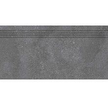 Stufenfliese Rako Betonico schwarz 30x60cm