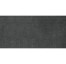 Stufenfliese Rako Extra schwarz 30x60cm