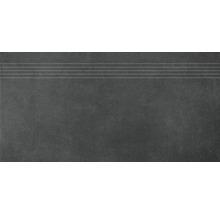 Stufenfliese Rako Extra schwarz 40x80cm
