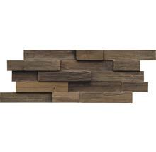 Holzverblender Teak Reclaimed Charred 20x50 cm