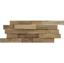 Holzverblender Teak Reclaimed Natur 20x50 cm
