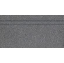Feinsteinzeug Treppenstufe Block schwarz 79,8x39,8cm rektifiziert