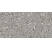 Feinsteinzeug Wand- und Bodenfliese Ceppo di Gre antracite 30x60cm rektifiziert