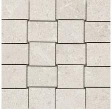 Feinsteinzeugmosaik Marazzi Gris Fleury bianco 30x30cm