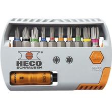 HECO Bit Selector Pozi Drive mit Farbkodierung 11tlg.
