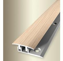 Übergangsprofil 578V Alu mit Holzdekor Eiche weiß gekalkt 100 cm